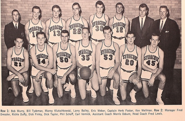 1962-1963 Syracuse Orangemen Basketball Team Photo